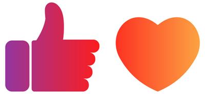 Icons Like und Herz